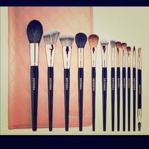 Sephora Pro Rose Gold Brushes 12 in total
